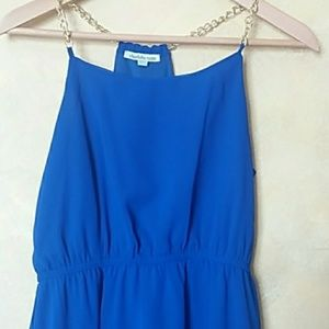 Mini Dress Blue Lagoon Chiffon Gift